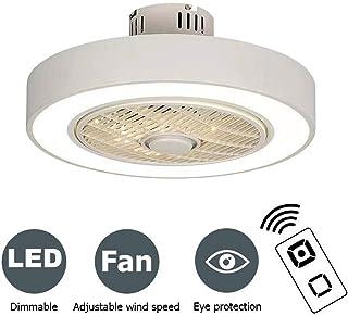 PPAMZ Ventilador de Techo con Lámpara de Techo, Moderna LED Ventilador de Techo Control Remoto de Regulable, Decoración de Salón Interiores Plafón de Techo lluminación 80W, Ø50cm Blanco