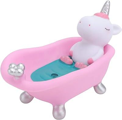 ledmomo 石けんケース 石鹸ケース ソープディッシュ 石鹸置き ホルダー ケース かわいい 牛形 軽量 耐久性 ピンク