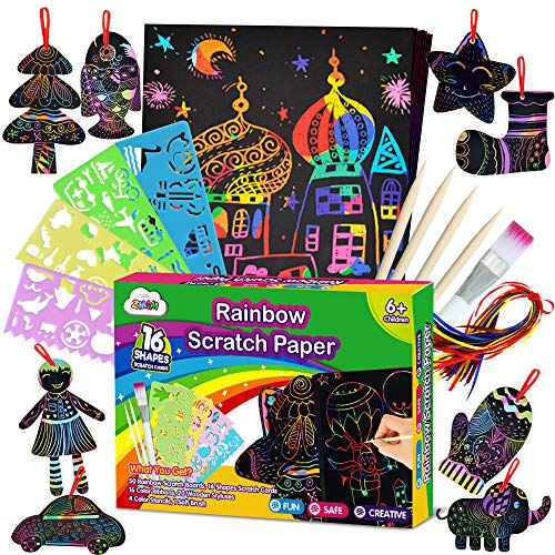ZMLM Scratch Paper Art Set for K...