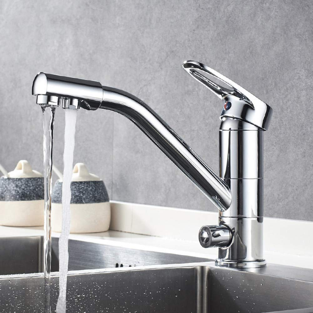 RTTGOR Grifo Küche Wasserhahn 16 Grad Rotation Mit Wasser