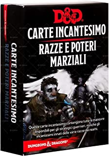 Asmodee- Dungeons & Dragons 5a Edizione Carte Incantesimo Razze e Poteri Marziali, Colore, 4011