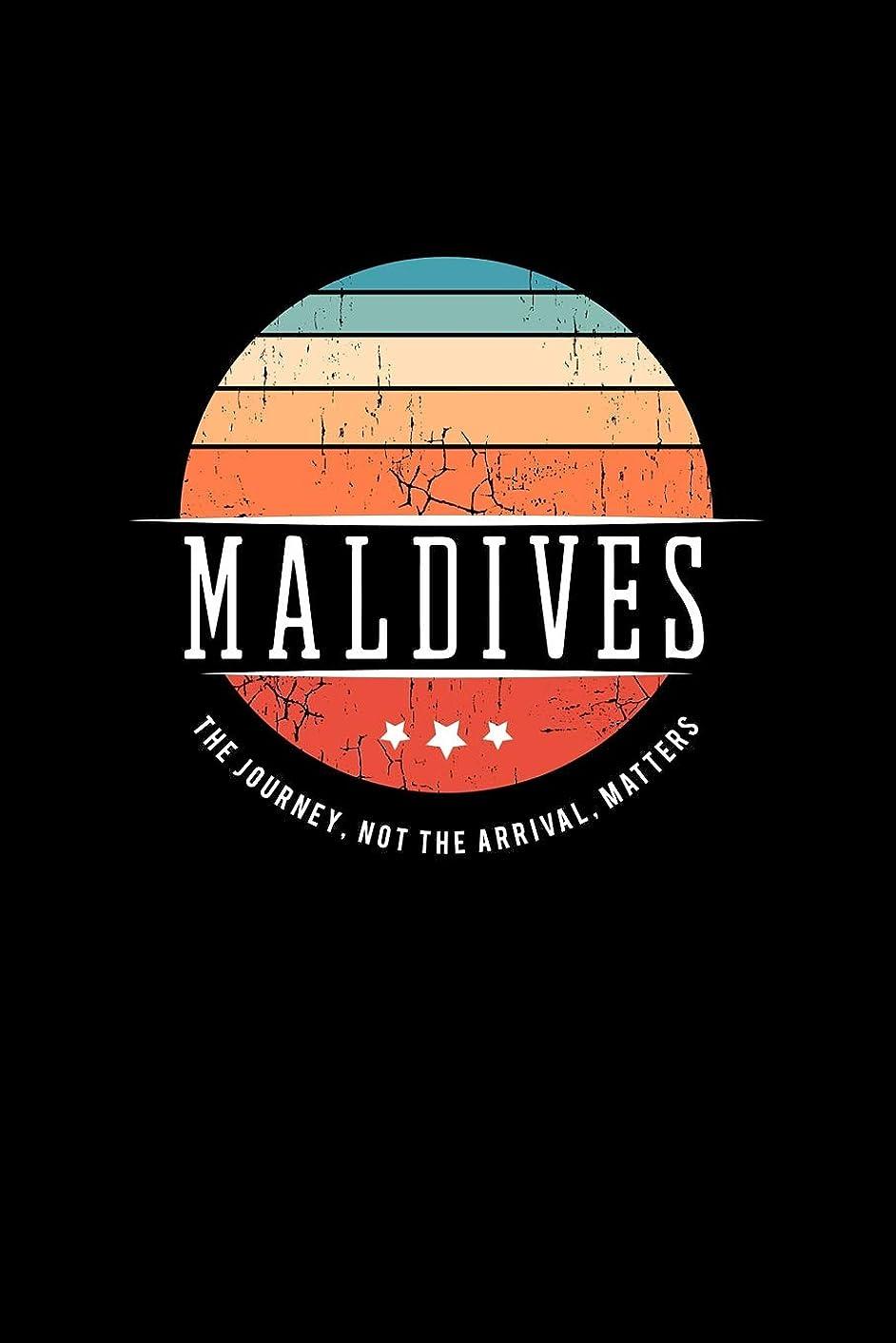 Maldives: Vintage World Travel Keepsake Blank Journal Notebook