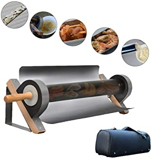 Solar BBQ Cooker Portable BBQ Grill Oven Stainless Steel Smokeless Energy Saving Food Grade Higher Efficiency Baking Trays for Camping Travel Outdoor or Indoor