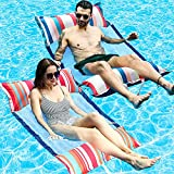 Best Inflatable Water Lounges - FindUWill Inflatable Pool Float, 2-Pack XL Soft Fabric Review
