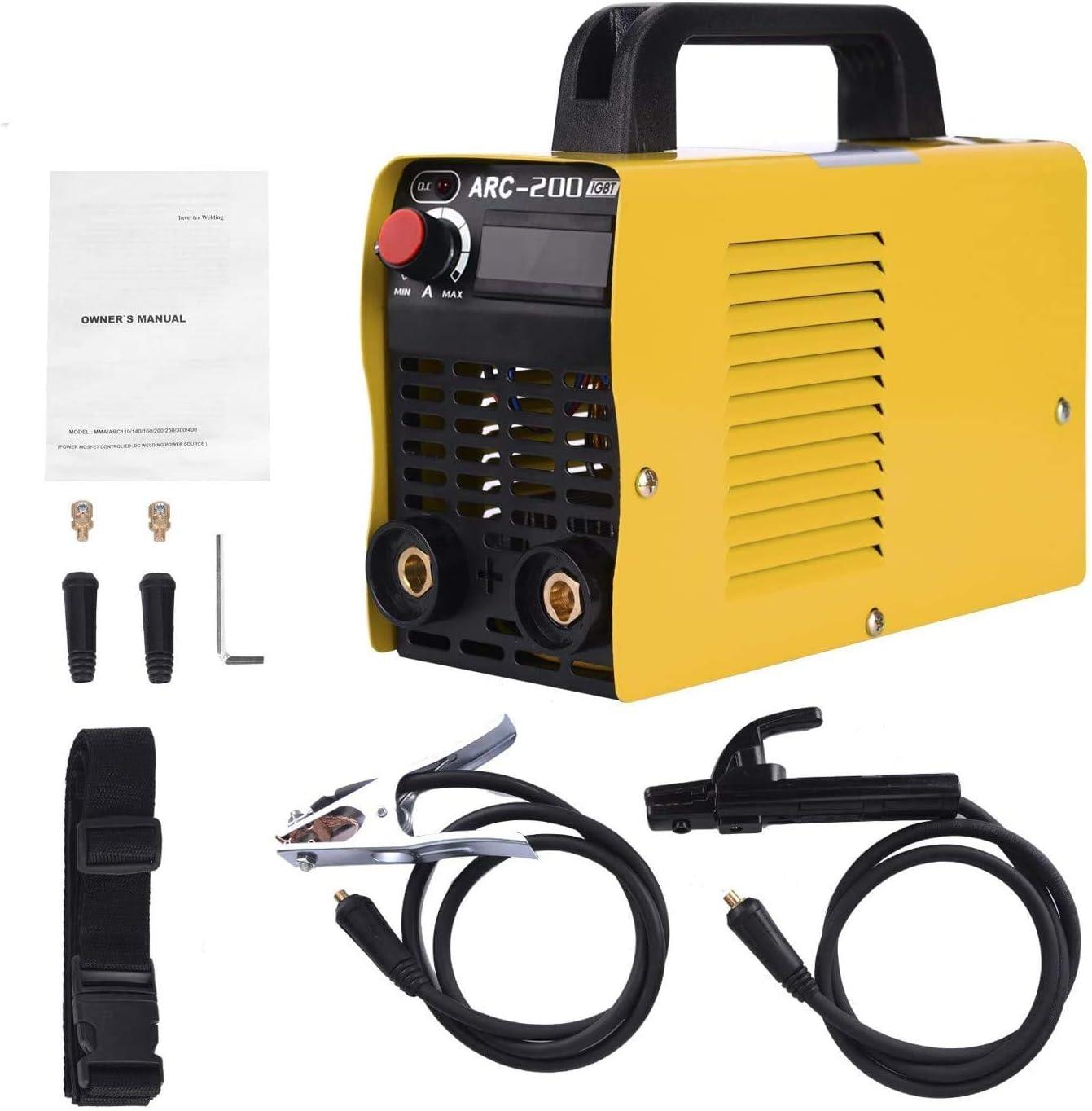 Welding Machine, 110V Plug, 200Amp Power, IGBT AC DC Beginner Welder With Display LCD Use Welding Rod Equipment Tools Accessories