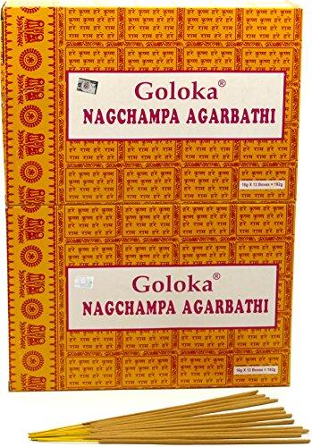 Goloka Nagchampa Agarbathi, incenso, 24 Box