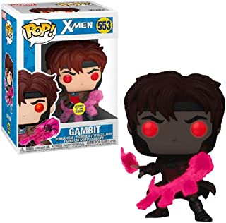 Figura de vinilo Pop X-Men Gambit Glow-in-The-Dark – Entertainment Earth Exclusive