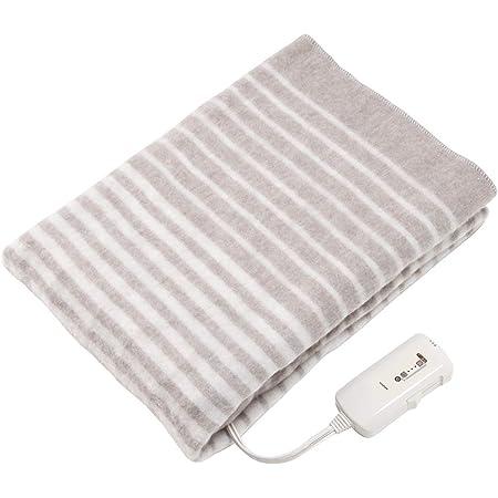 コイズミ 電気毛布 敷き毛布 丸洗い可 頭寒足熱配線 ダニ退治 抗菌防臭 130×80cm KDS-4092