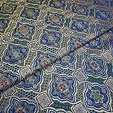 XIAOHUAHUA Hellblaues Geometrisches Muster des Chinesischen