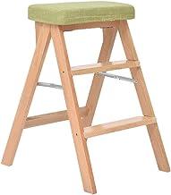 ZRABCD Ladders Stap Ladder Thuis Stap Krukken, Stap Kruk Kinderstoel Houten Ladder Trap Plank Trapladder Hoge Veerkracht S...