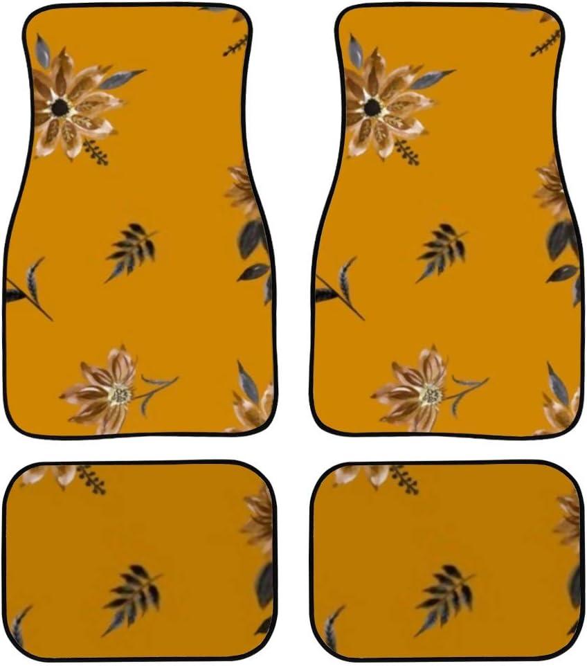 HJSHG Carpet Floor Mats Hand Popular overseas Fl quality assurance Automotive Wild Painting Flowers