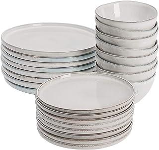ProCook Oslo - Service de Table en Grès - Set 24 Pièces/Pour 8 Personnes - Petite Assiette, Grande Assiette & Bol à Céréal...