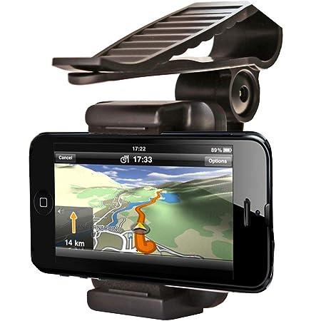 Universal Silikon Handyhalterung Auto Morechioce 360 Drehbar Auto Handyhalter Sonnenblende Clip Handy Ständer Für Alle 35 99 Mm Geräte Kompatibel Mit Gps Iphone5s 6s Plus Galaxy S7 Auto