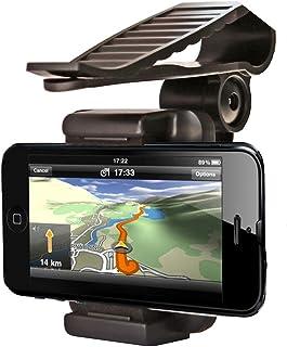 Universal Silikon Handyhalterung Auto,MoreChioce 360 Drehbar Auto Handyhalter Sonnenblende Clip Handy Ständer für Alle 35 99 mm Geräte kompatibel mit GPS iphone5s 6s Plus Galaxy S7