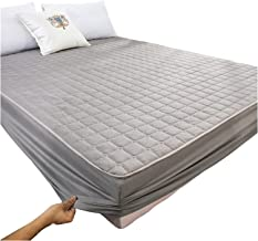 Mattress Protector Brushed Fabric Water and Moisture Proof Quilted Mattress Protector Topper Cover Breathable Smooth Extra...