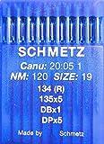 Schmetz, 10 aghi con testa rotonda per macchina da cucire industriale, sistema 134(R), spessore di...