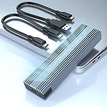 Rocketek Adaptador de Caja M.2 NVME y SATA SSD, USB C 3.1 Gen 2 10Gbps NVME PCI-E y SATA NGFF Unidad de Estado Sólido, Est...