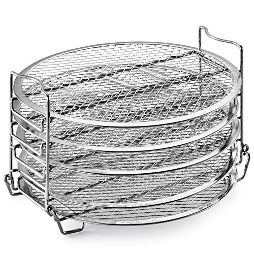 Purchase Goldlion Dehydrator Rack Stainless Steel Stand Accessories Compatible with Ninja Foodi Pres...