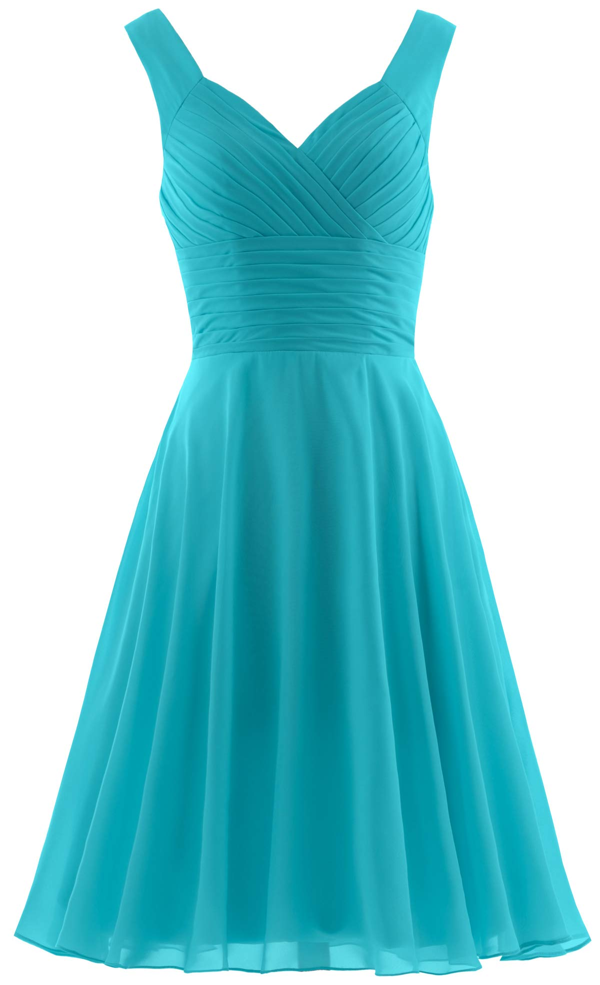 Available at Amazon: ANTS Women's Pleated Sweetheart Bridesmaid Dresses A Line Cocktail Gown
