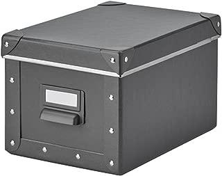 IKEA Fjalla Storage Box With lid Dark Gray 703.956.73 Size 7x10 ¼x6