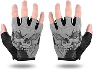 LYCAON Cycling Gloves, Gel-Padded, Non-Slip, Breathable Riding Glove, Full/Half Finger Pad Gloves for Folding BMX Road Bike Cruiser Cycling Outdoor Exercise