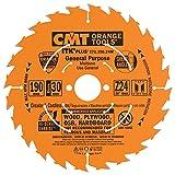 CMT 271.190.24M Lama Circolare Itk-Plus per Taglio Lungo e Traverso Vena, Arancio