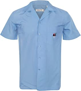 Guayabera Cuban Men's Solid Colo Beach Wedding Short Sleeve Button Up Casual Dress Embroidered Shirt
