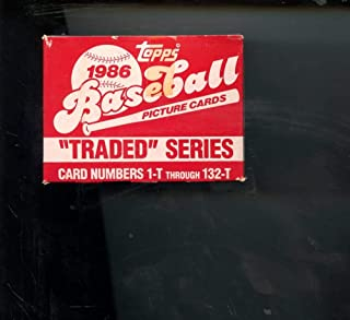 1986 Topps Traded Baseball Complete Set Box Barry Bonds Rookie Card FACTORY SEAL