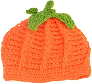 Baby Crochet Pumpkin Hat Toddler Knitted Beanie Halloween Infant Hooded Cap JHH02