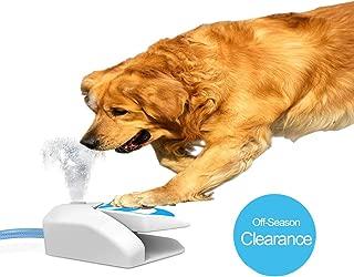 Yvelife Dog Water Sprinkler,Outdoor Dog Water Fountain Step On,Garden Pet Water Sprinkler