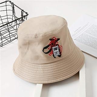 JIACHIHH Sombrero De Pescador Algod/ón,Sombrero De Pescador Blanco Primavera Verano Viajes Exterior Protector Solar Sombrero para El Sol Tapa De Cuchara