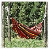 Pu-ai Hamaca Doble Gruesa portátil al Aire Libre Camping jardín Columpio Silla Colgante (Color : Yellow)
