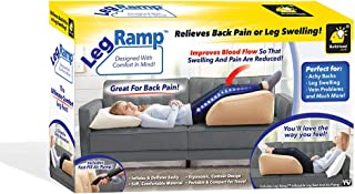 BulbHead Leg Ramp Leg Elevation Pillow - Must-Have Elevating Legs Rest Pillow - Relieves Leg Pain, Hip and Knee Pain, Improves Circulation, Reduces Swelling - Inflatable Bed Wedge Pillow