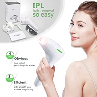 IPL Permanent Hair Removal for Women (500000 Flashes) - Painless - Skin Sensor - Laser Hair Removal Devices for Women Home Use, Remove hair for Face & Body & Bikini