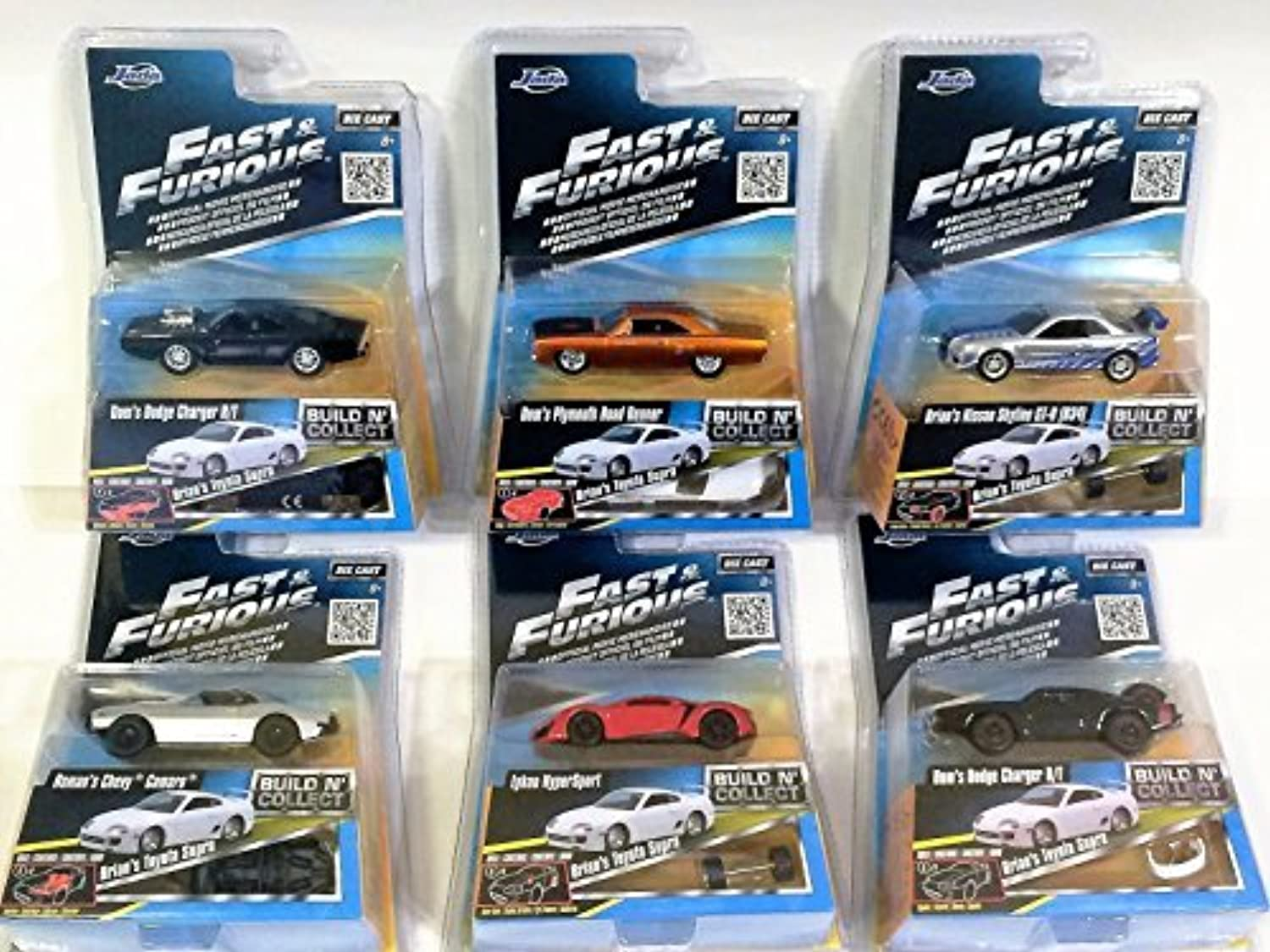 ofreciendo 100% Fast & Furious Build N N N Collect Complete Collection of 6 Die-cast Coches   Bonus Brians Jugueteota Supra (Jada Juguetes). 1 55 scale. by Fast & Furious  nueva gama alta exclusiva