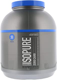 Nature's Best, IsoPure Protein Powder with Zero Carb, Creamy Vanilla, 4.5 lb/2.04 kg