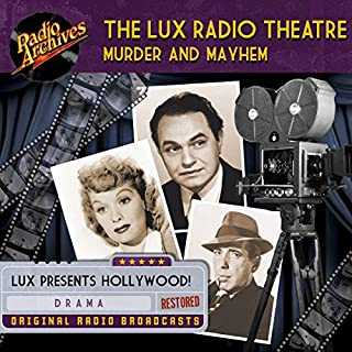 Lux Radio Theatre, Murder and Mayhem                   By:                                                                                                                                 George Wells,                                                                                        Sanford Barnett                               Narrated by:                                                                                                                                 full cast                      Length: 9 hrs and 50 mins     Not rated yet     Overall 0.0