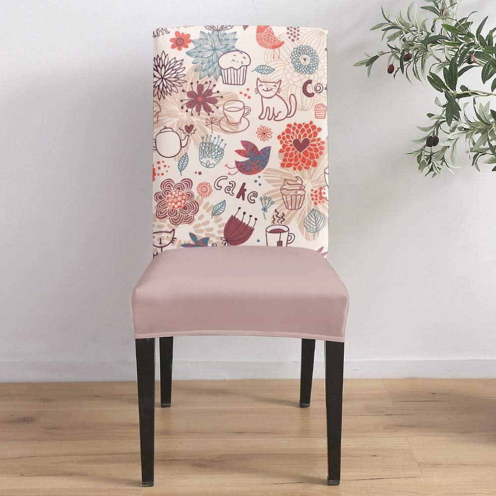 Dining Room Time sale Stretch Chair Cover Slipcover Cat Dahli Cartoon Portland Mall Cute