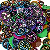 Kicko Laser Disc Spin Toy - Set of 144 Spinning Tops with Laser Stickers for Physical Play, Enhancing Focus, Fair Prize, Party Favor, Goody Bag
