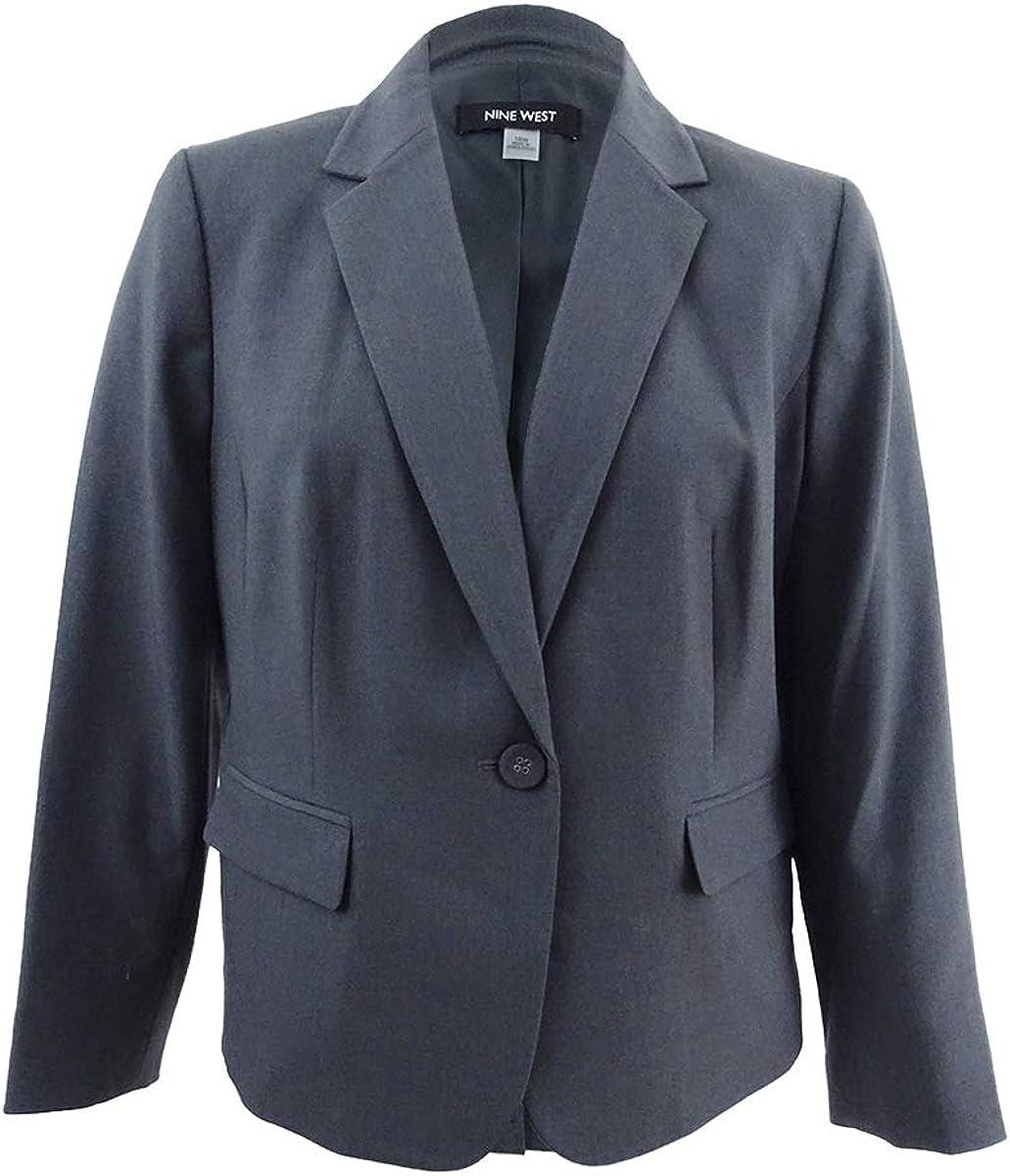 NINE WEST Women's Plus Size Solid Jacket