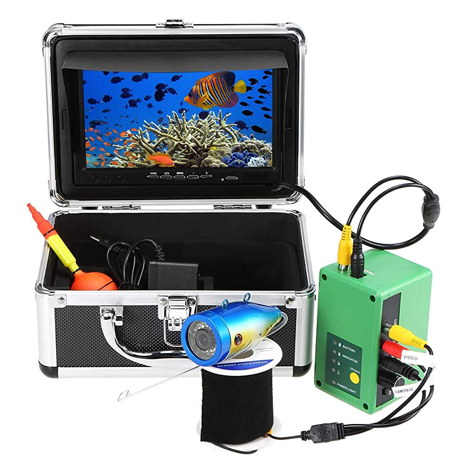 コイル意見破壊的なLIXADA 魚群探知機 水中釣りカメラ ナイトビジョン 1000TVL モニター 360°回転カメラ 防水 排水管 下水道検査カメラ 30m/15mケーブル付き