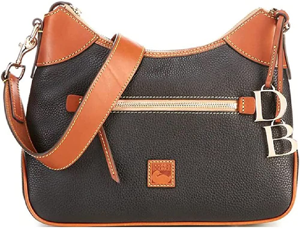 Dooney & Bourke Pebble Leather Hobo Bag - Black