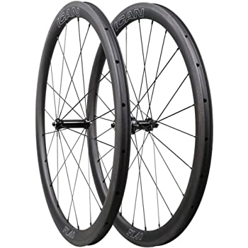 ICAN 40mm Ruedas de Carbono Remachador Tubeless Listo Bici ...