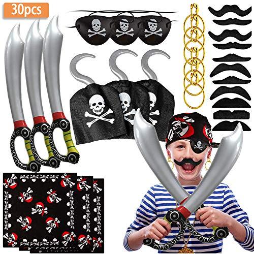 SPECOOL Accesorios de Pirata con Parche en el Ojo Pirata