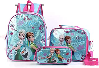 Mochila Infantil XYDBB 3pcs / Pack Kids Frozen Cartoon Fashion Cute Kids Plush Story Mochilas Unicorn Bags como se Muestra-4 Rojo