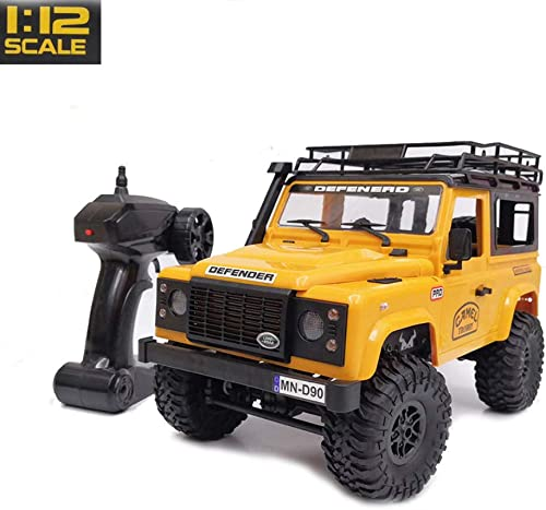 barato y de alta calidad RC RC RC Car1   12 2.4G 4WD 15KM   h RC Car 2 Body Shell & Front LED Light Rock Crawler Truck RTR Toy Niños Niños Regalo,amarillo  Disfruta de un 50% de descuento.