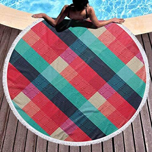 Olie Cam Rundes Strandtuch Celtic Vivid Gradient Coloured Digital Mage Celtic Forms Geometrische Elemente Irischer Druck