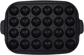 Cast Iron Non-Stick Griddle Plate, Multifunction Kitchen Barbecue Griddle Plate Grill Baking Tray Pan Kitchenware(Takoyaki Grill)