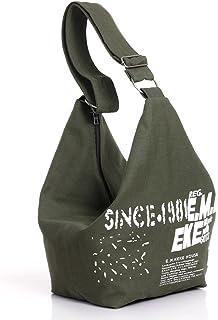 JINTN Women Extra Large Canvas Beach Tote Bags Everyday Shoulder Messenger Bag Gym Bag