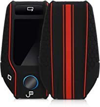JVCV® Car Key Cover Compatible with BMW X Series Key - Rally Stripe (Black Red)